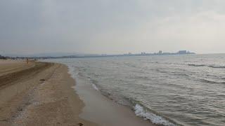 #АНАПА. Погода. 20.10.2018 Пляж Ривьера. Хоть и пасмурно, но тепло