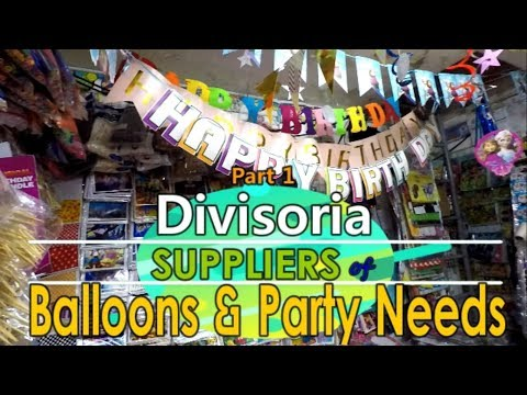 Divisoria Suppliers Of Balloons And Party Needs