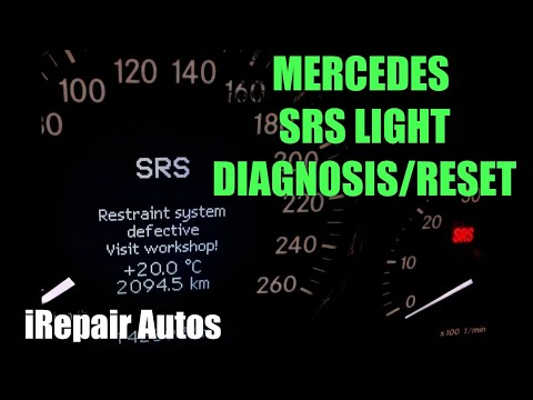 Mercedes SRS Light Diagnosis And Reset | DIY | iRepair Autos