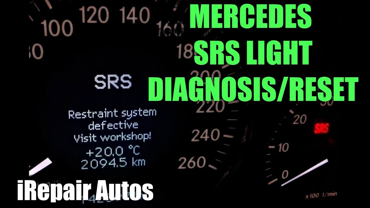 Mercedes SRS Light Diagnosis And Reset | DIY | iRepair Autos