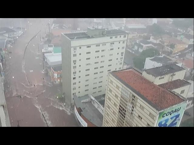 Flash floods in Brazil