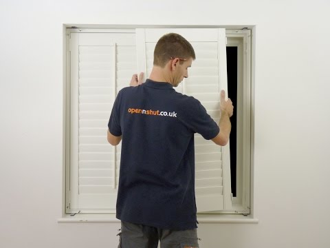 How to fit DIY shutters the easy way - install plantation shutters youself