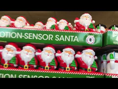 ASMR SOUNDS -  Christmas Shopping For Decorations at DOLLAR TREE / No Talking