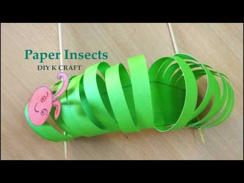 DIY how to make paper insects | Easy Paper Insects craft | DIY K CRAFT