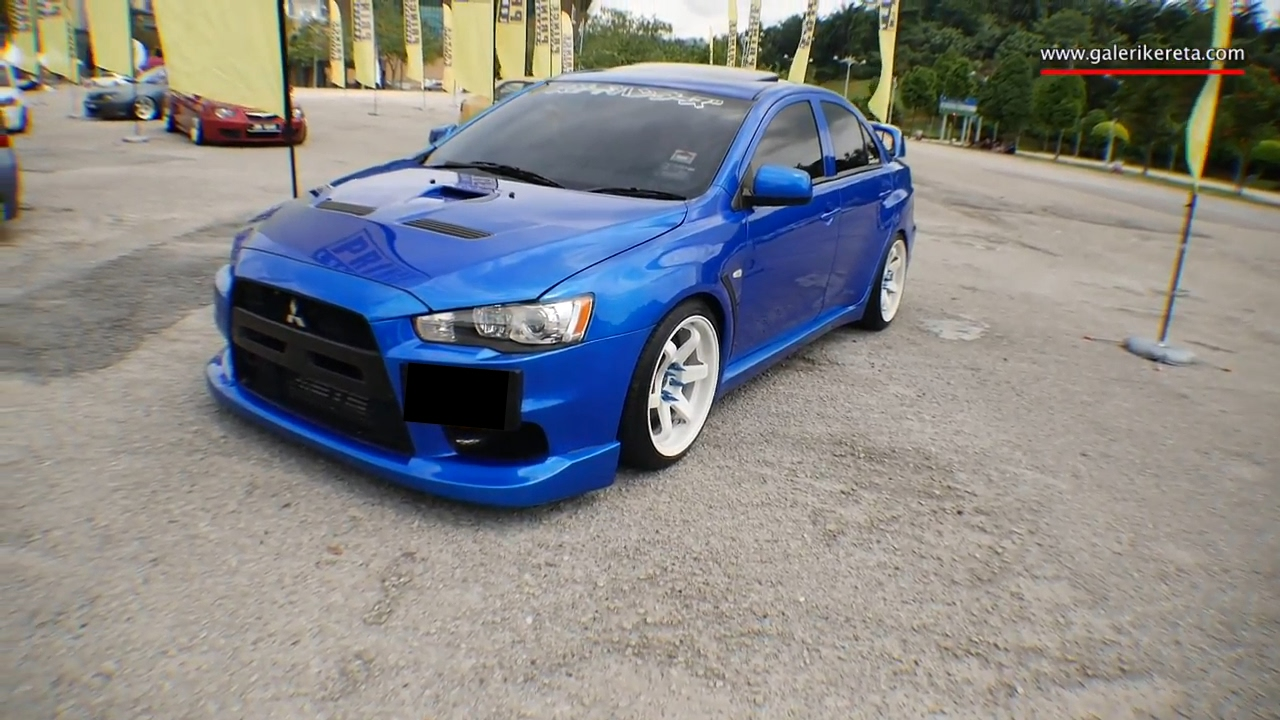 mitsubishi evolution 10 stance blue and white combo pacg