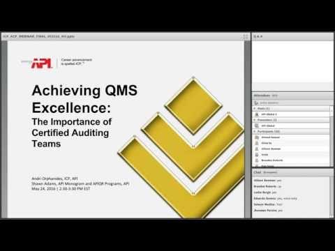 WEBINAR: Achieving QMS Excellence