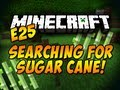 Searching For Sugar Cane! - Minecraft - E25