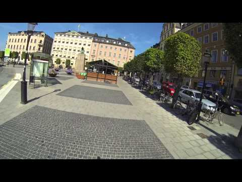 Stockholm sightseeing by bike and with Go Pro camera