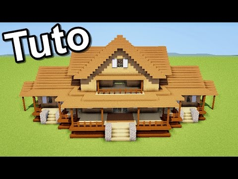 Minecraft tuto comment faire une maison en bois youtube for Plan maison minecraft moderne
