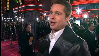 Repeat youtube video Latest Celebrity Gossip - Brad Pitt and George Clooney, are Frenemies at the Oceans Twelve Premiere