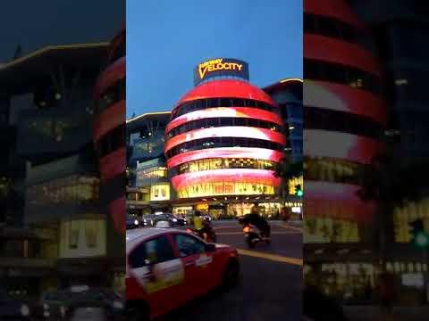 Sunway velocity kuala lumpur led night - media facade