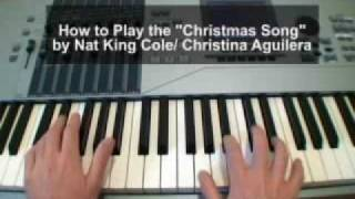 The Christmas Song Piano Tutorial (Nat King Cole / Christina Aguilera)