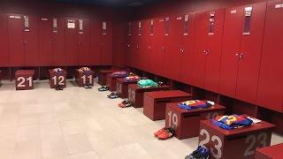 FC Barcelona - Athletic Club (Copa del Rey): Dressing room at Camp Nou