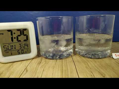 Ice Cubes without and with SAlt, surprising outcomes, which lasts longer?