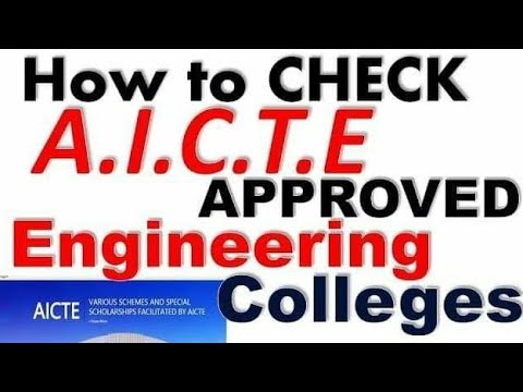 How to Know AICTE approved Engineering colleges & universities ???