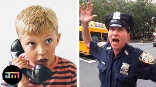 10 niesamowitych telefonów dzieci na policję
