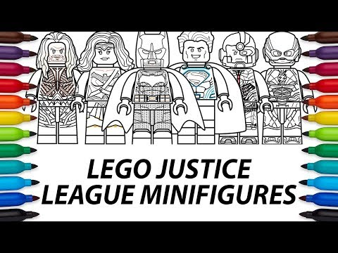 How to draw Lego DC Comics Justice League Movie minifigures compilation