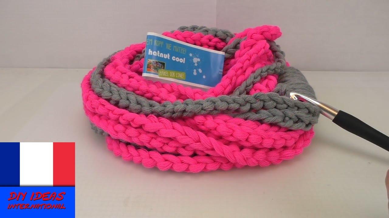 Sehr Echarpe pour débutante au crochet / Echarpe en mailles de chaîne  PJ27