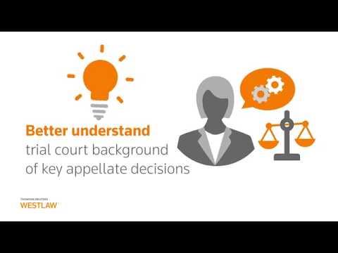 Westlaw – Trial Court Orders