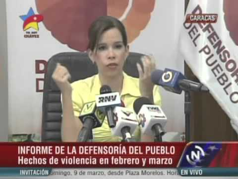 Lo que dijo la Defensora del Pueblo venezolana Gabriela Ramírez sobre las torturas