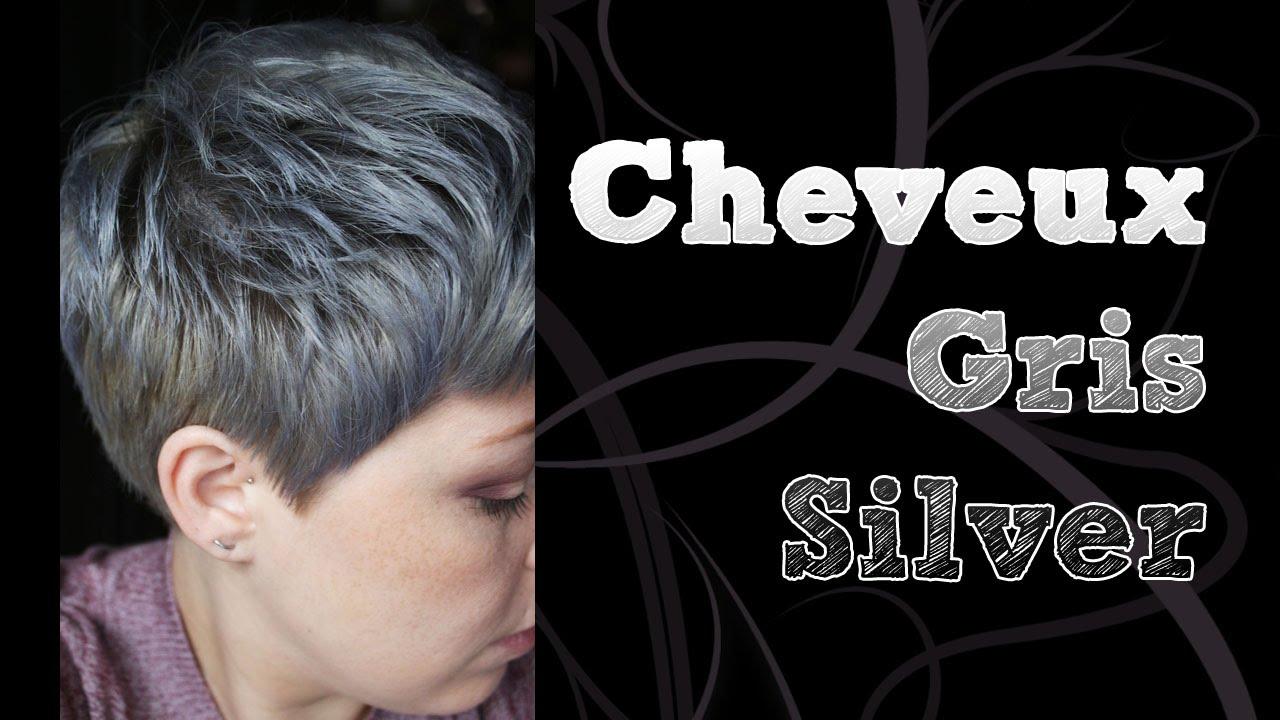 coloration cheveux gris silver avec sparks youtube. Black Bedroom Furniture Sets. Home Design Ideas