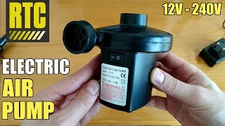 240Volt Electric AIR PUMP for Inflatables with 12v Car Plug in Adapter