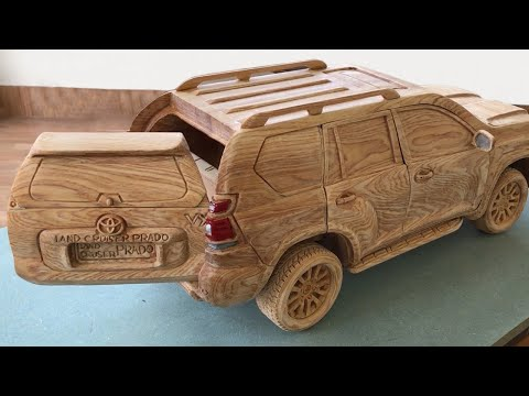 Wood Carving – TOYOTA PRADO Land Cruiser 2020 (New Model) – Woodworking Art