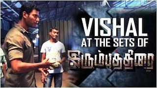 Vishal at the sets of IrumbuThirai | Vishal, Arjun, Samantha | Yuvan Shankar Raja | P.S. Mithran