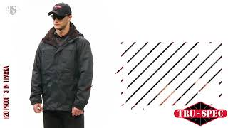 Tru-Spec Outerwear H2O Proof 3-in-1 Parka Tactical Jacket, Detachable Roll-Able and Stow-Able Hood
