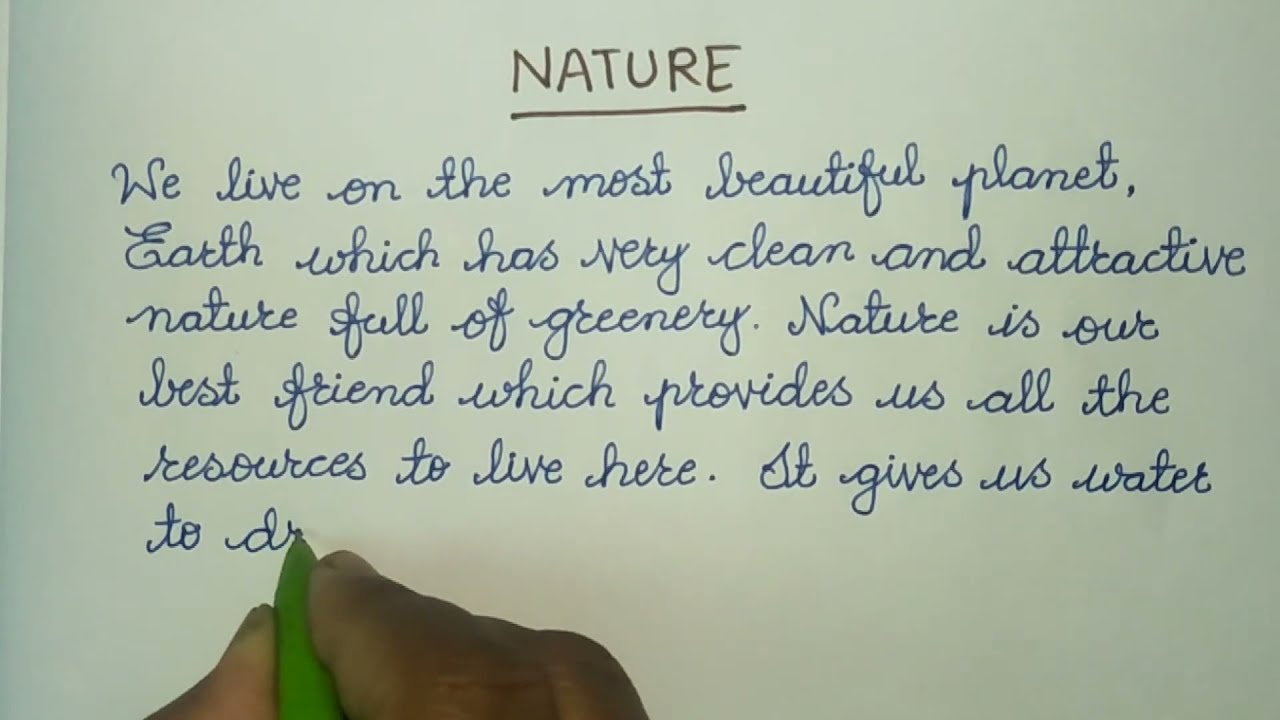 Essay About Nature