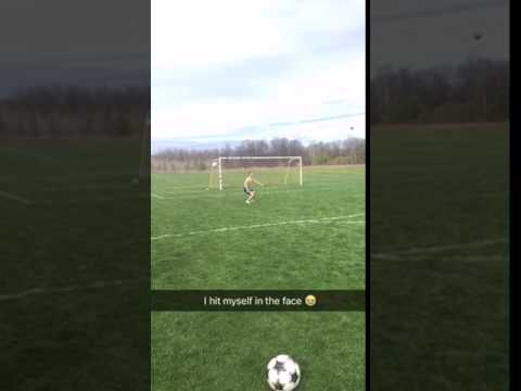 Soccer Volley Fail Hit In Own Face Wrecked