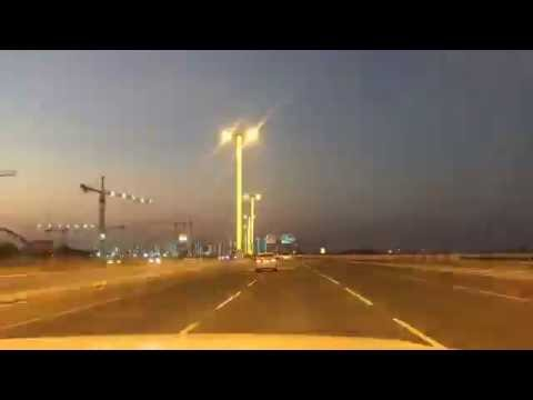 Qatar Colorful Lights on the Road Timelaps