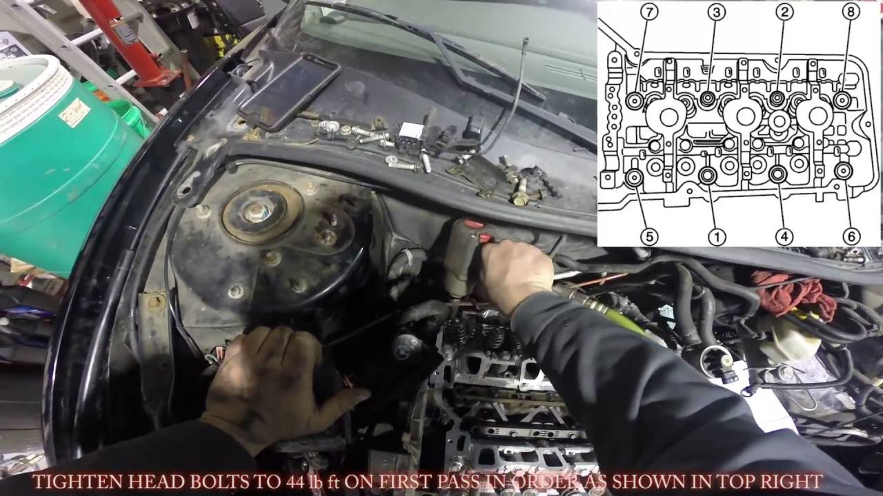 hight resolution of 3 4 3 1 cylinder head gasket installation replacement