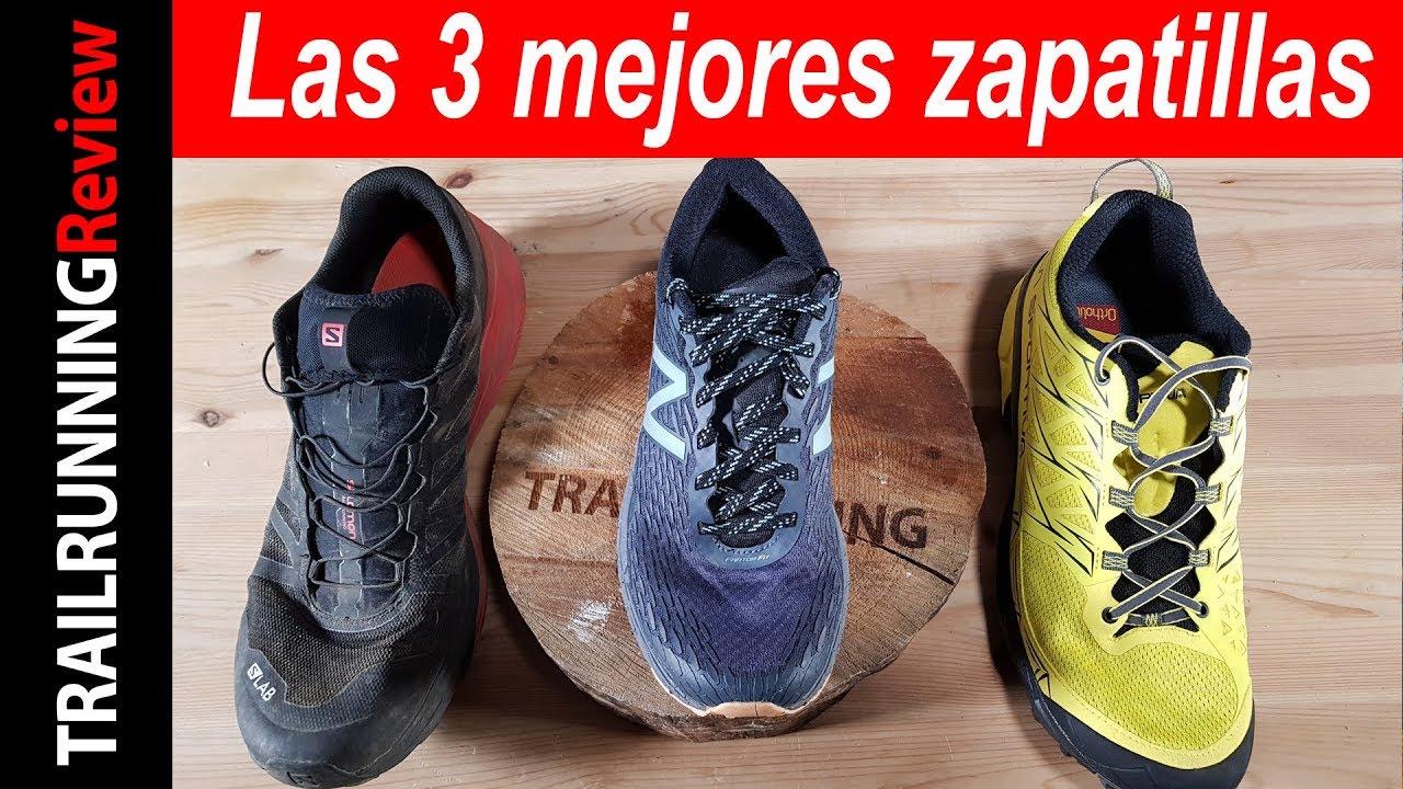 2ef97a940d7 Las 3 mejores zapatillas de Trail Running de 2017 - YouTube