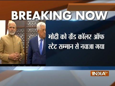 Modi in Palestine: Indian PM conferred 'Grand Collar of the State of Palestine'