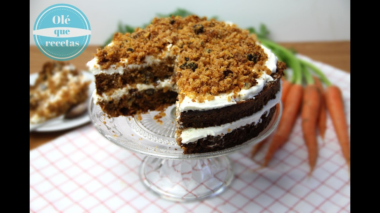 Pastel de zanahoria-una receta fácil y tradicional- Olé que recetas