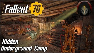 Hidden Underground Camp | FALLOUT 76 - Camp Building Guide