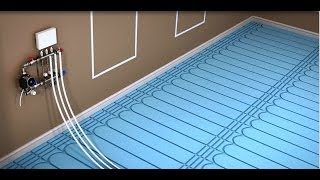 ProWarm™  Warm water underfloor heating kit installation -  Solid Floor Panel method