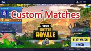 Custom Matches in Fortnite (Code nirmal)