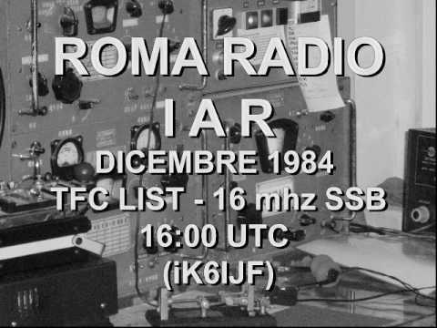 ROMA RADIO - IAR -  LISTA TRAFFICO SSB 1984