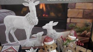 Новогодние украшения для дома  Шикарный декор на Рождество - великолепная семейка оленей  Обзор