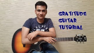 Gratitude Guitar Tutorial with PLECTRUM By Yash G
