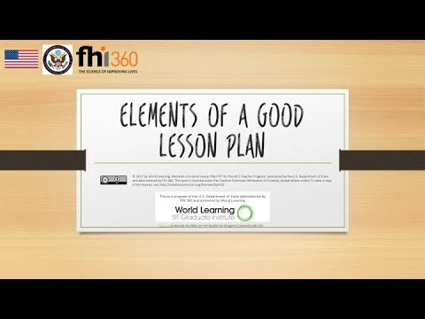 Elements Of A Good Lesson Plan