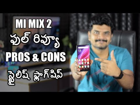 Xiaomi Mi Mix2 Mobile review with pros & cons ll in telugu ll by prasad ll