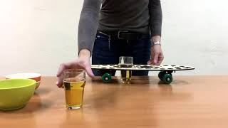 """Поднос-скейт """"Beer drive"""" для бокалов и закусок Обзор"""