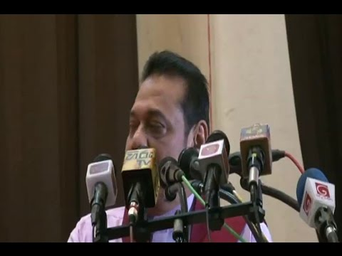 Mahinda Rajapaksa reacts to son Yoshitha's arrest