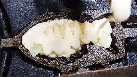 인천 구월동 줄서서먹는 슈크림 붕어빵 / 붕어빵 / 한국 길거리 음식 / Bungeoppang / Korean Street Food