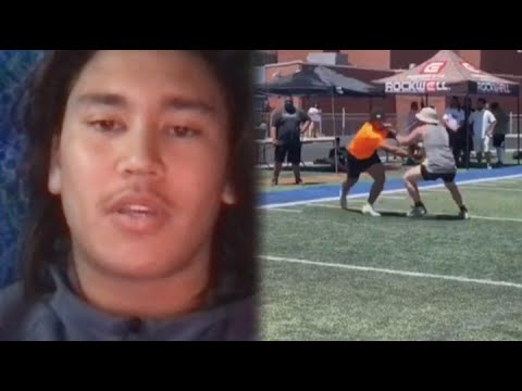 Kiwi NFL hopeful recruited by prestigious college, despite never playing a game in the US