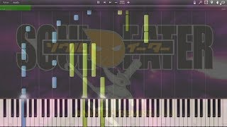"Soul Eater - Opening 2 ""Black Paper Moon"" - Synthesia Piano HD + Midi"