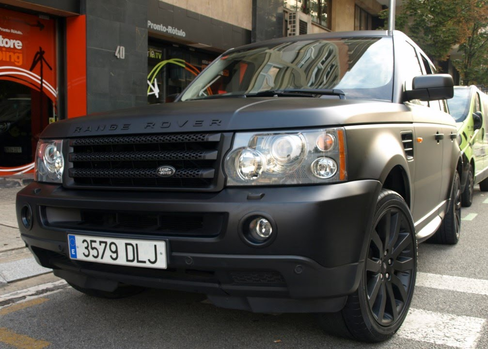 Car Wrapping Range Rover Sport Negra A Negra Mate By